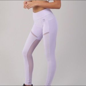GYMSHARK Simply Mesh Leggings (XL, Lilac)